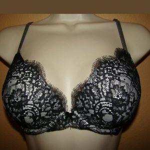 Victoria's Secret Push-up Bra 34C Black Lace